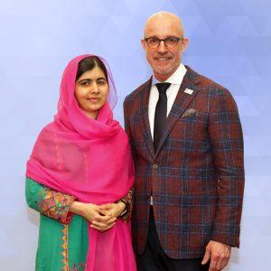 With Malala Yousafzai